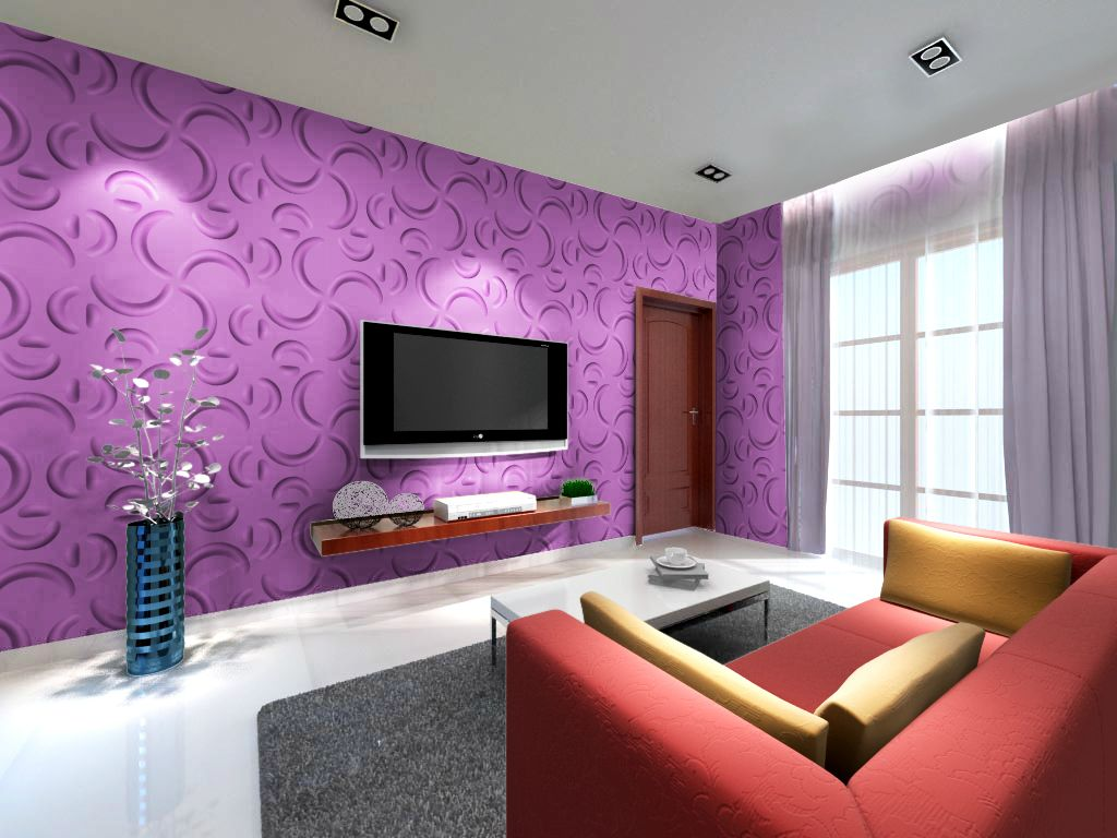 30 inspiring accent wall ideas to change an area home - Purple feature wall living room ideas ...