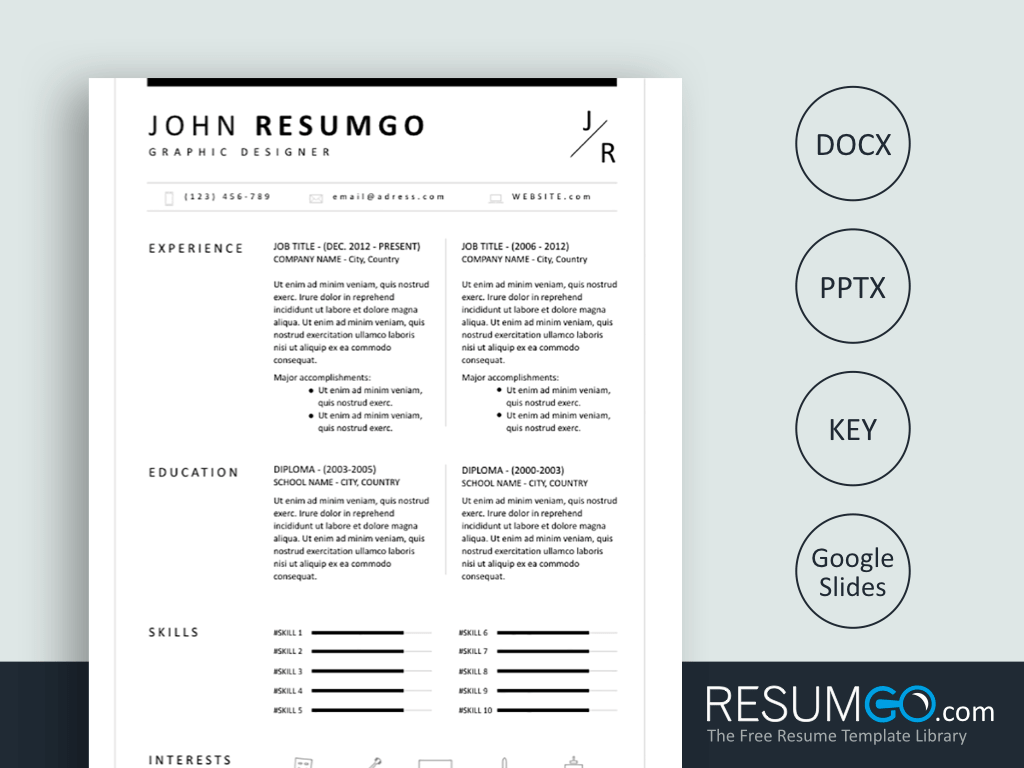 BION Classic Resume Template Resume