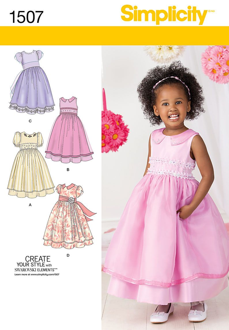 S1507 Toddlers\' & Child\'s Special Occasion Dress | RUHAK ...