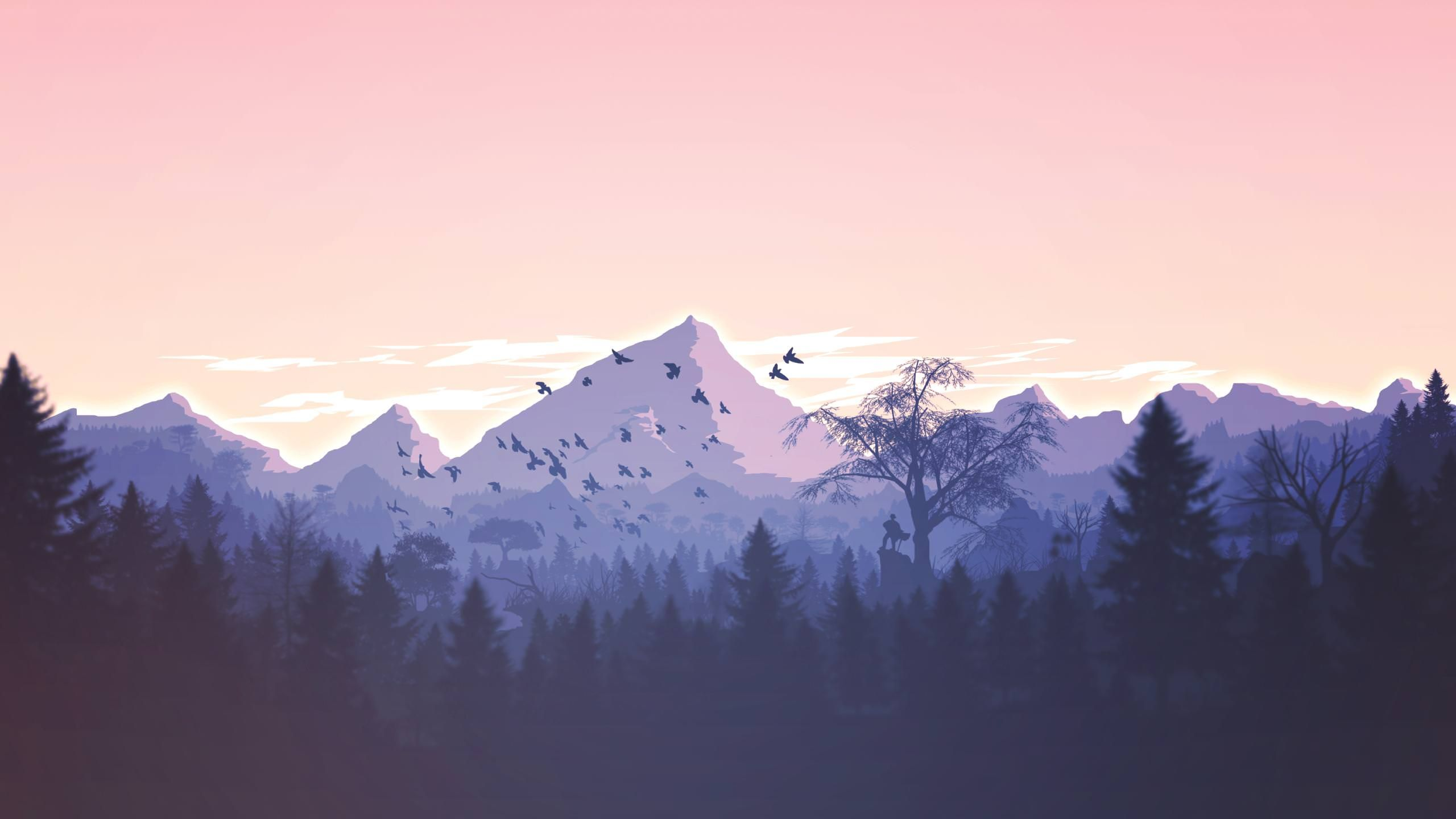 Minimalist Scenery 2560x1440 Minimal Desktop Wallpaper