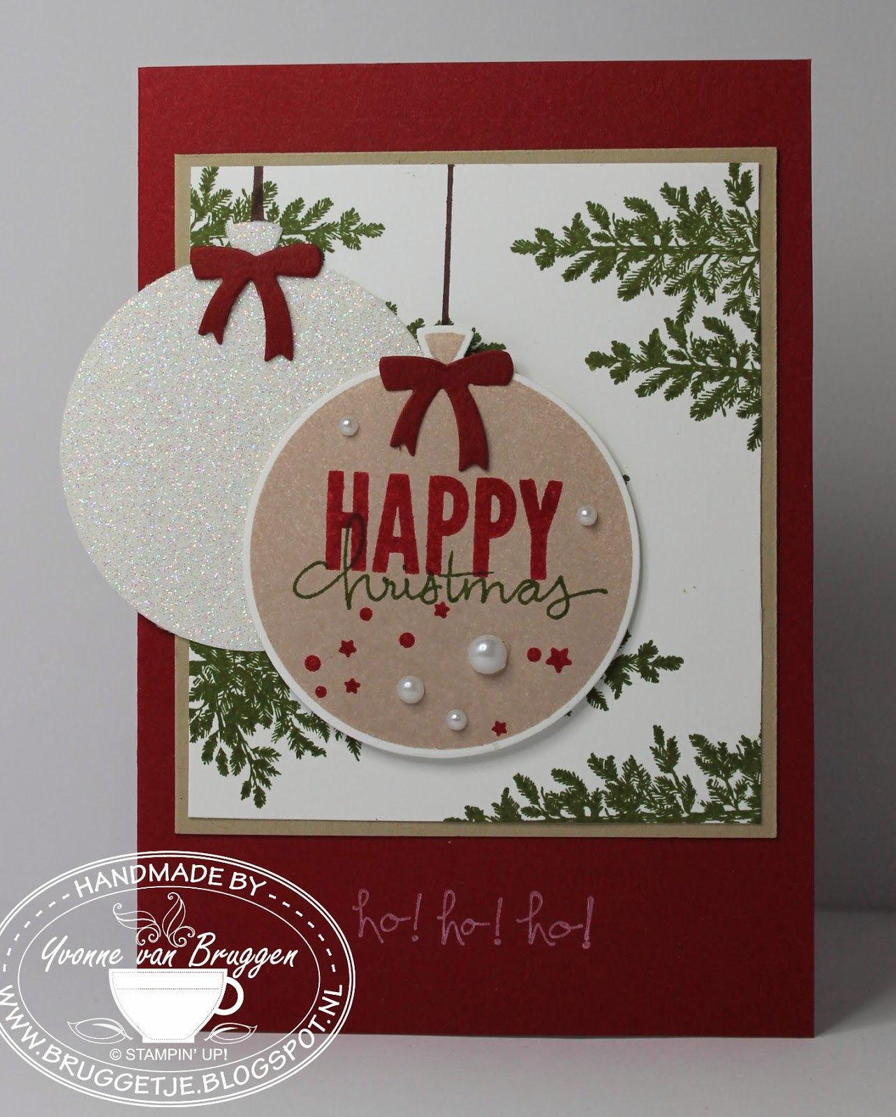 Scrapbook ideas christmas card - Yvonne Is Stampin Scrapping Stampin Up Celebrate Today Christmas Card