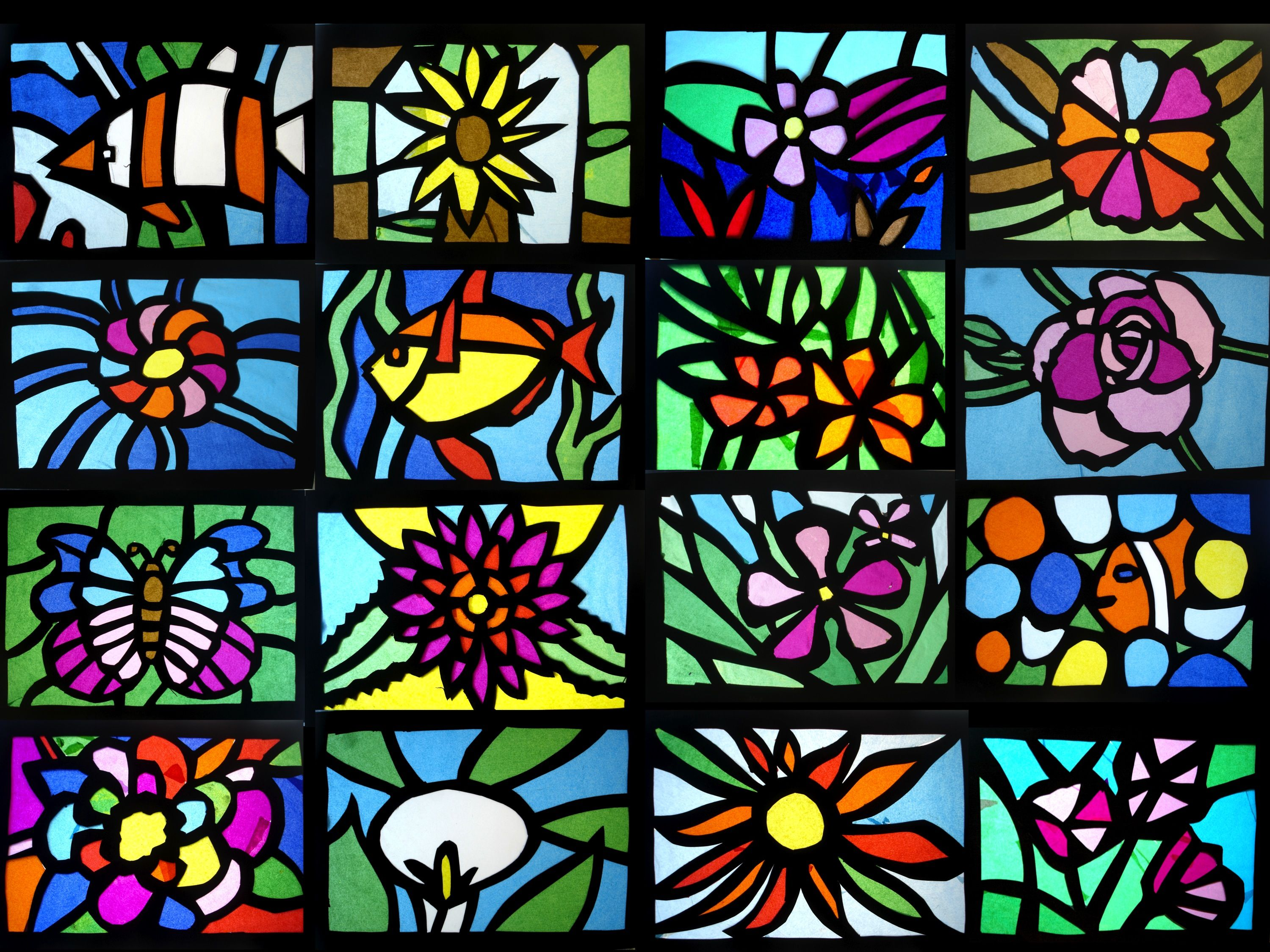 Stained Glass Window Art.Stained Glass Of Tissue Paper Stained Glass Glass Art