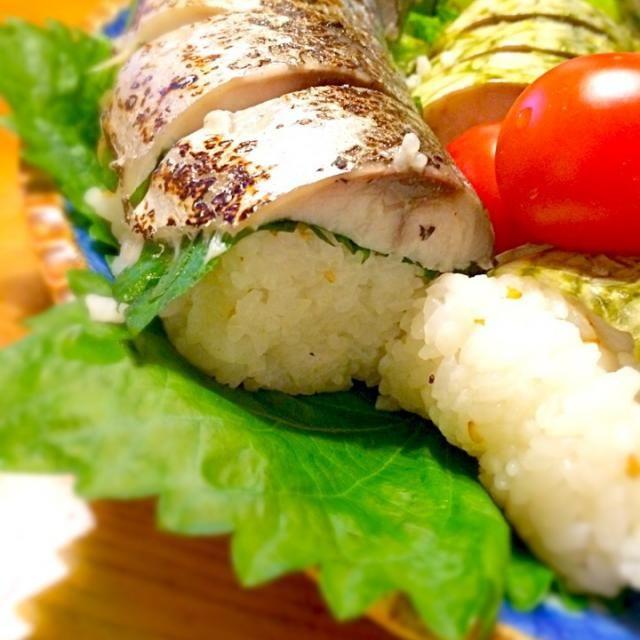 鯖押してみました( ´ ▽ ` ) - 135件のもぐもぐ - 焼き鯖寿司 by tobutori