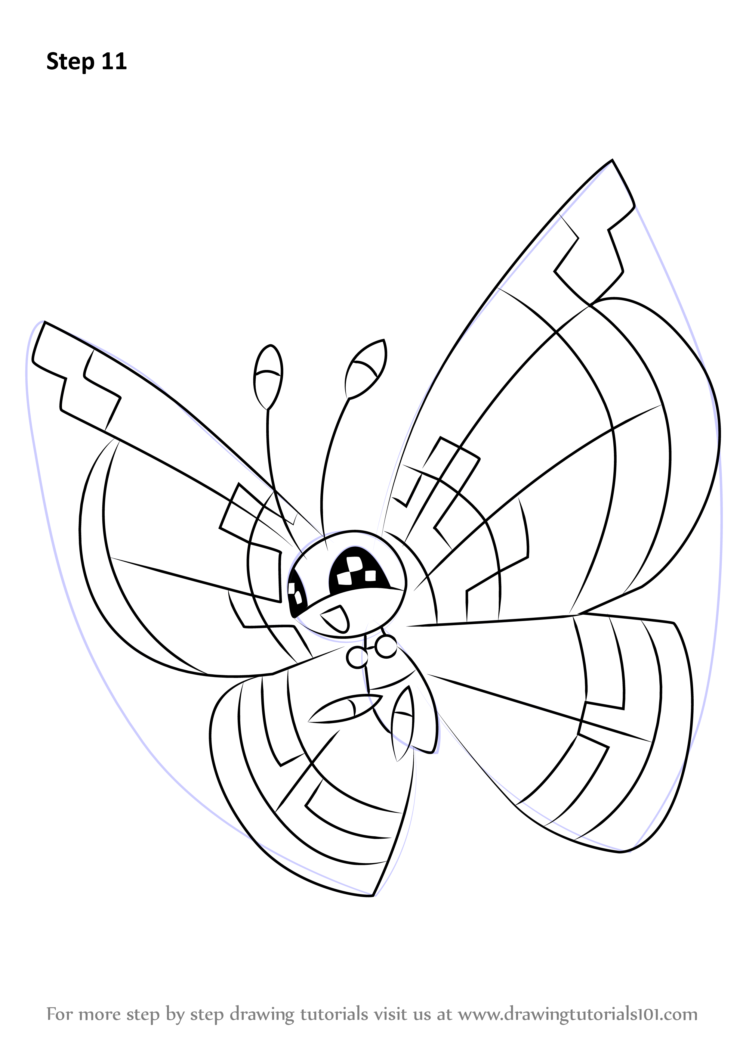 Uncategorized Pokémon Drawings vivillon is a butterfly like character from pokemon in this tutorial we will draw