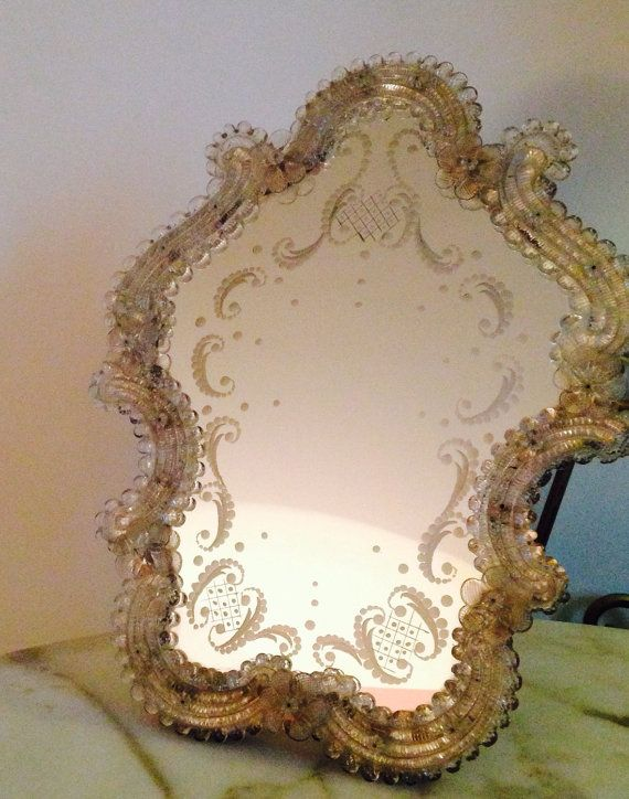 Vintage Large Italian Murano Gl Mirror Venitian By Thefrenchie