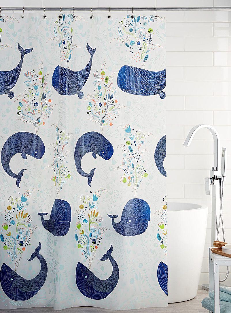 Blue Whale Peva Shower Curtain Vinyl Shower Curtains Whale