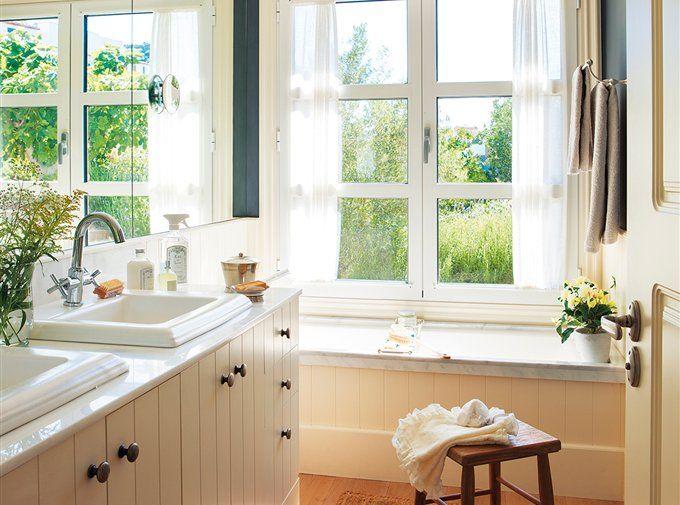 8 baños pequeños muy completos | Baños | Pinterest | Baño pequeño ...