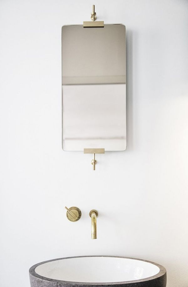 Pics On Explore Powder Room Mirrors Bathroom Mirrors and more Minimal mirror hardware