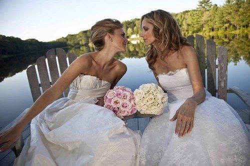 Mrs. and Mrs. Love this photo. A wedding with 2 gorgeous brides would have to be a fun event!