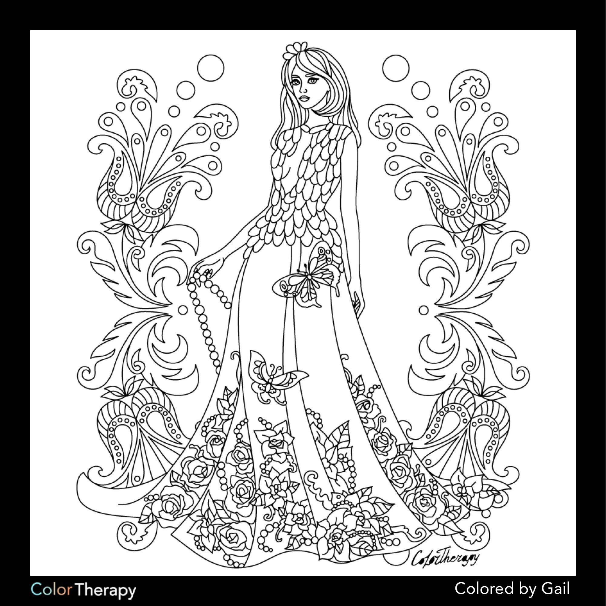 color app coloring pages | I colored this myself using Color Therapy App. It was so ...