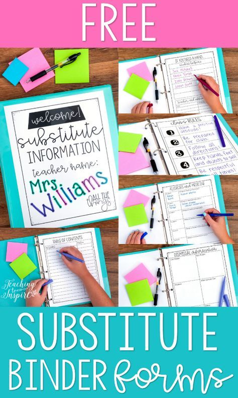 Tips for Having a Substitute Teacher (Upper Elementary) - Teaching with Jennifer Findley