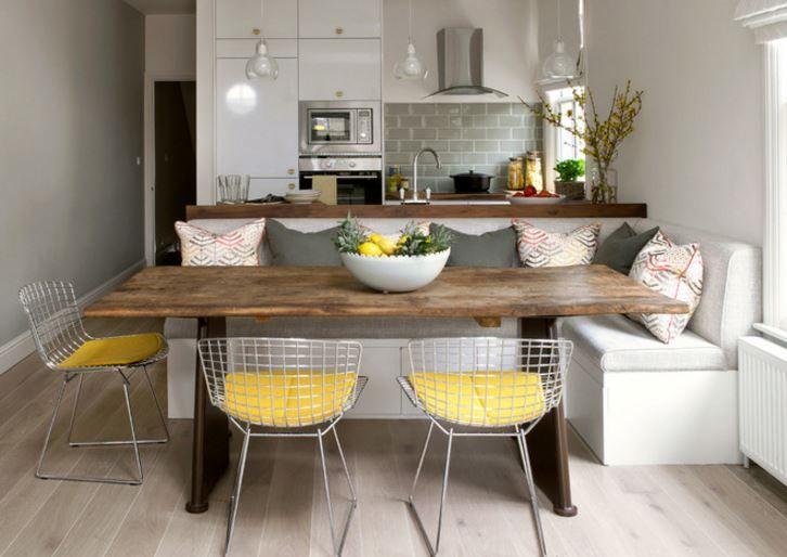 Kitchen Banquettes With Laid Back Charm Houzz Com Dining Room