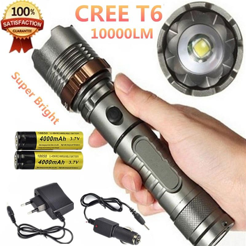 Buy Outdoor Rechargeable Cree T6 Flashlight Lumens 10000 Modes Xml 5 zVLUGMpqS