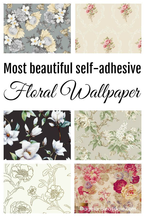 The Most Beautiful Peel and Stick Floral Wallpaper