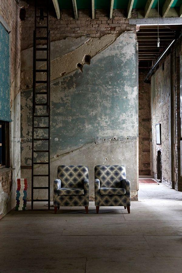 wände verputzen rustikale einrichtung im shabby shic stil - wandgestaltung wohnzimmer rustikal