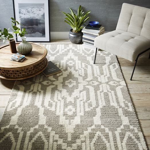 This Small Space Globalist Living Room Gives A Light And Airy Feel. The Intricate Medallion