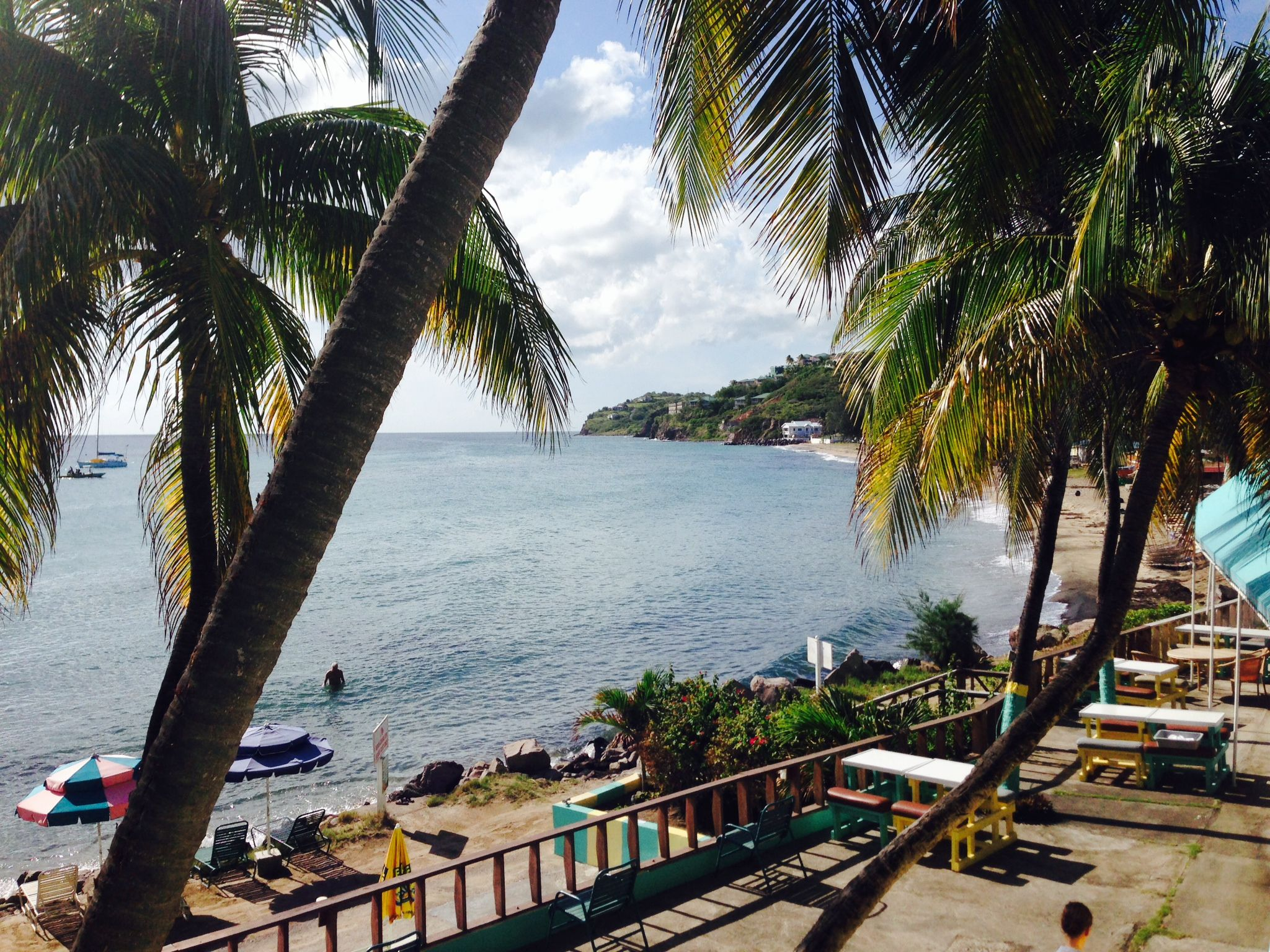 In the beautiful frigate bay area of st kitts timothy beach is the only