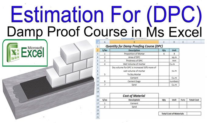 How to calculate the material quantity of Damp Proof Course | Civil