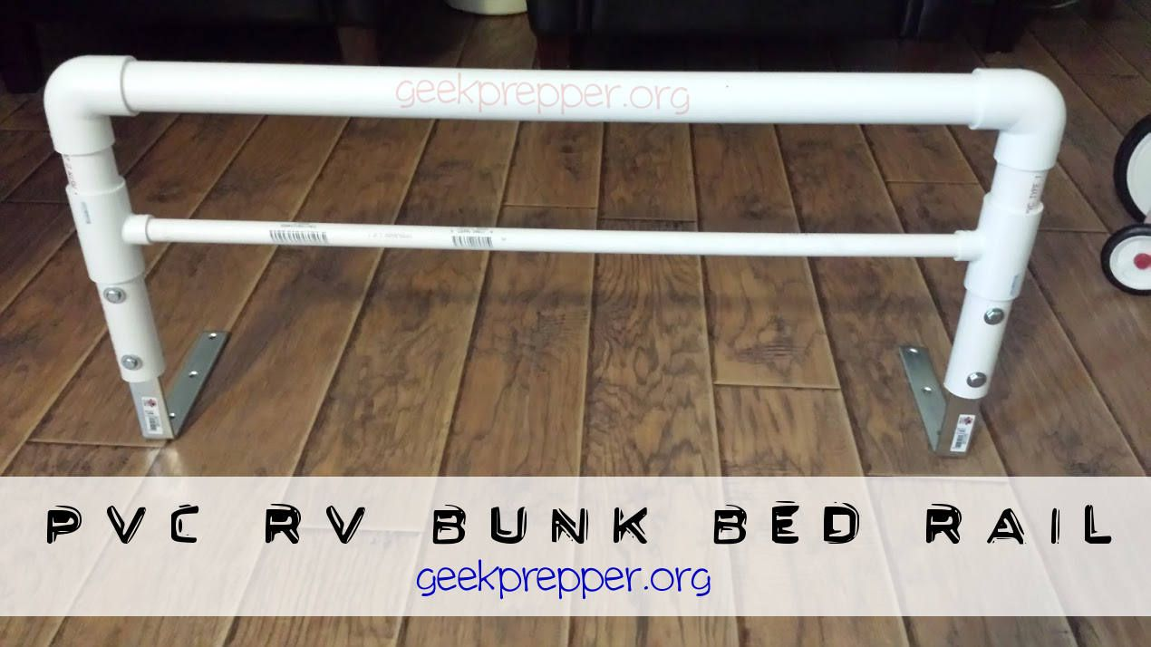 Diy A Pvc Rv Bunk Bed Rail To Contain The Kids For Bugout