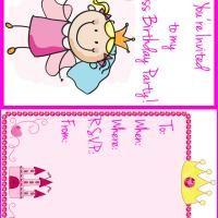 Printable Little Princess Birthday Party Invitation - FreePrintable.com