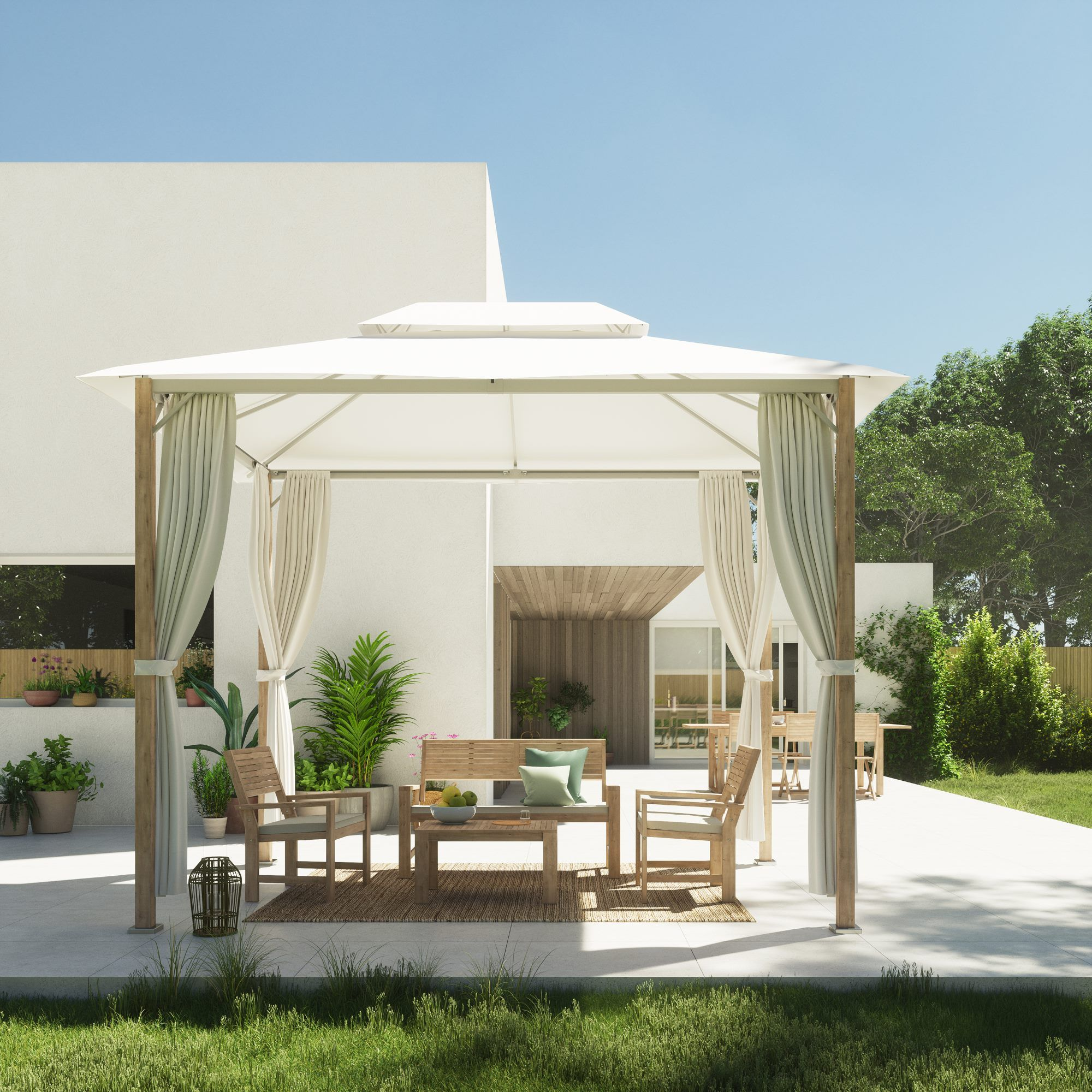 Drewniane Meble Do Ogrodu Gazebo Outdoor Decor Garden Furniture