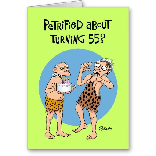 Funny Birthday Card For 55 Year Old Man By Monkey Moto Graphics