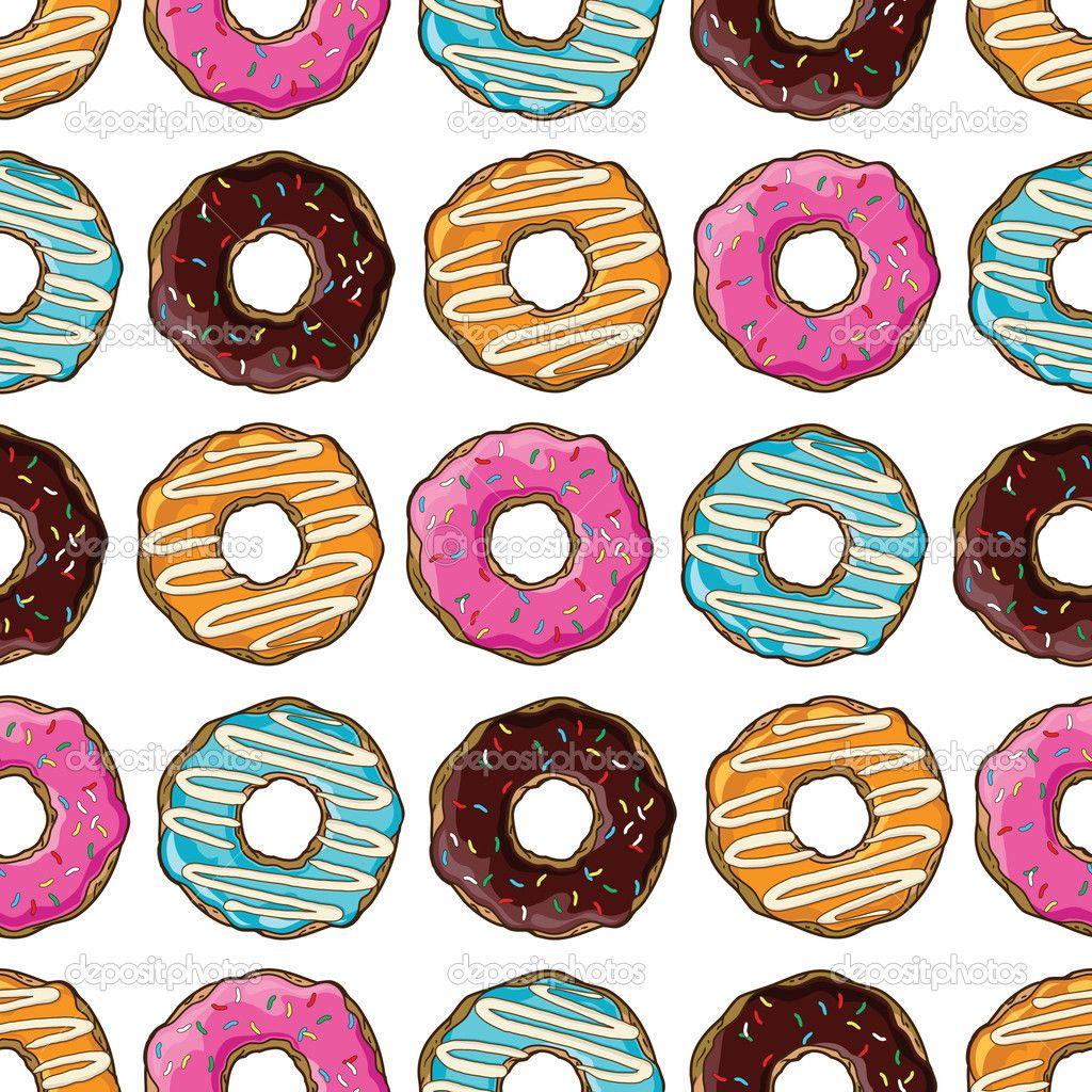 пончики вектор Цветные пончики Векторный набор