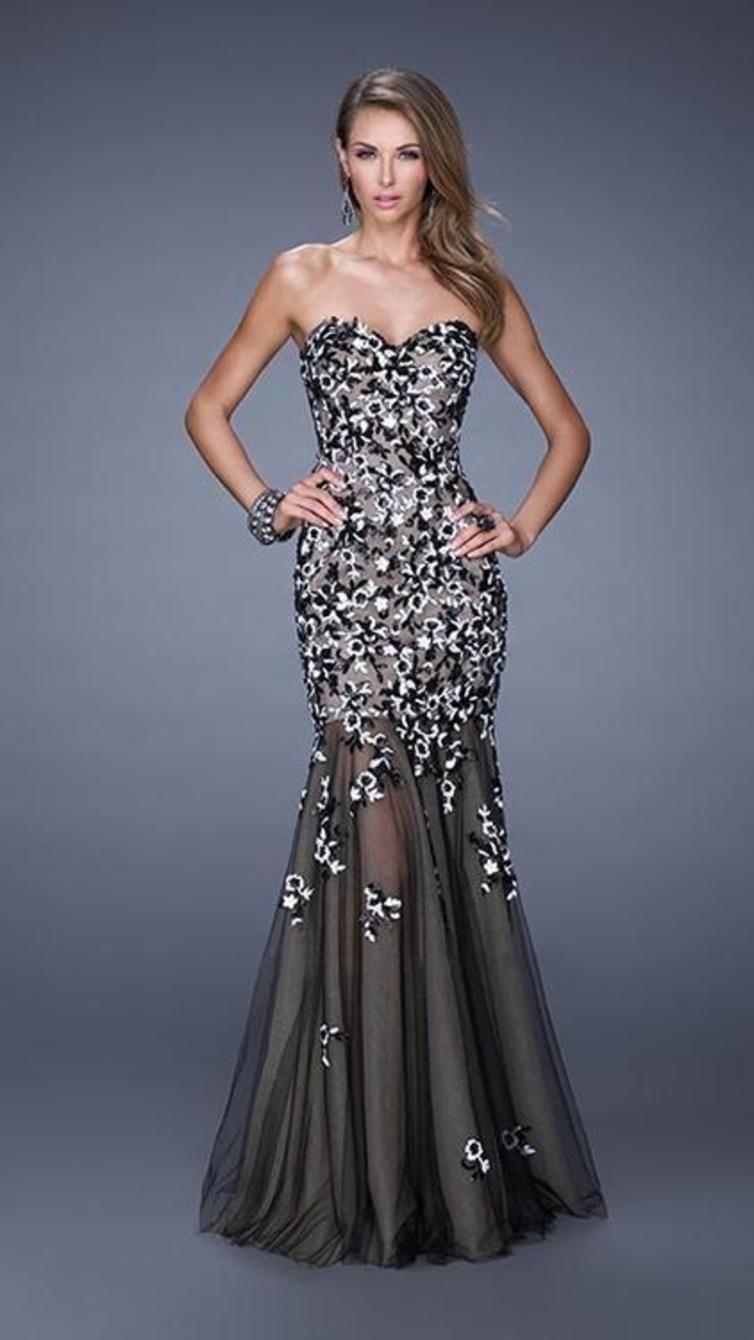 La femme sequined lace mermaid dress prom dress