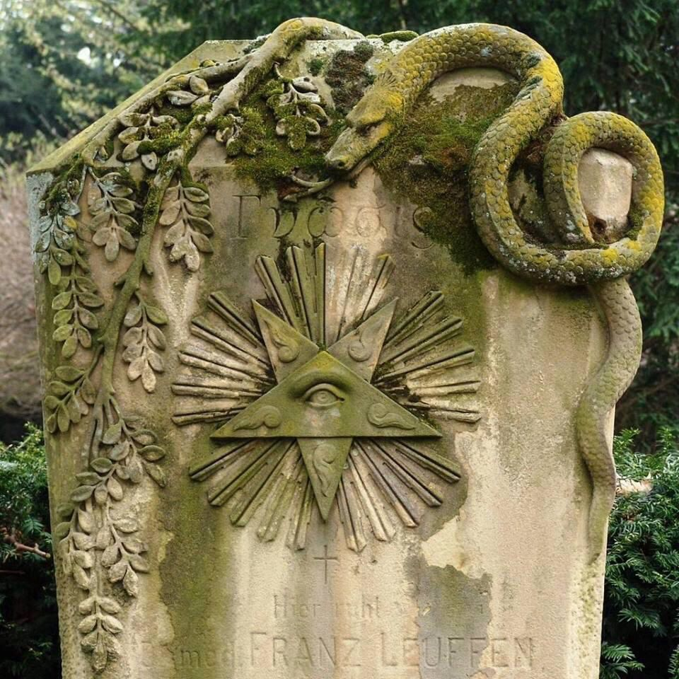 Wonderous thing!  Grave of Dr. Franz Leuffen, author of a book concerning post-mortem exams.