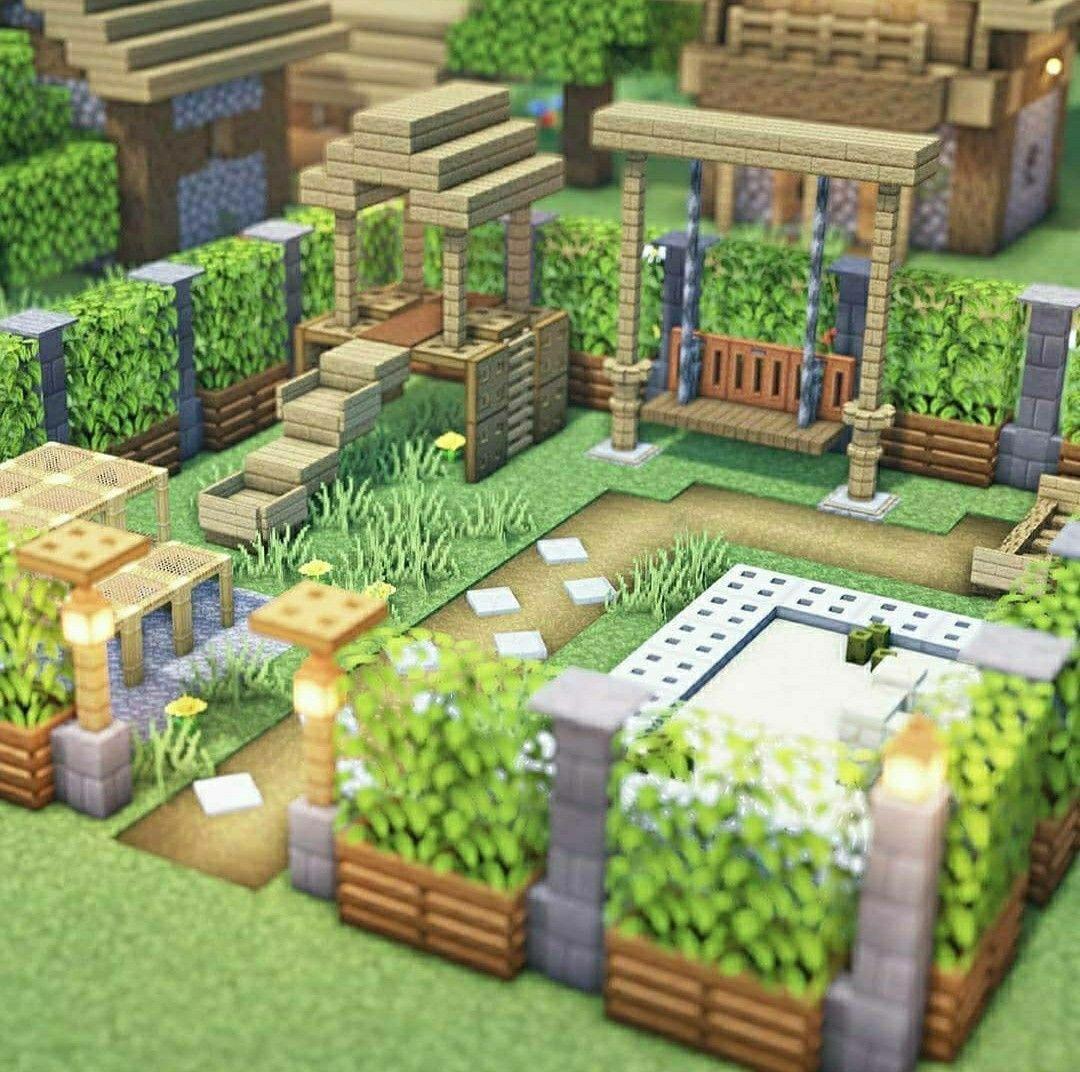Kids Playground Design Minecraft In 2020 Cute Minecraft Houses Minecraft House Designs Minecraft Designs