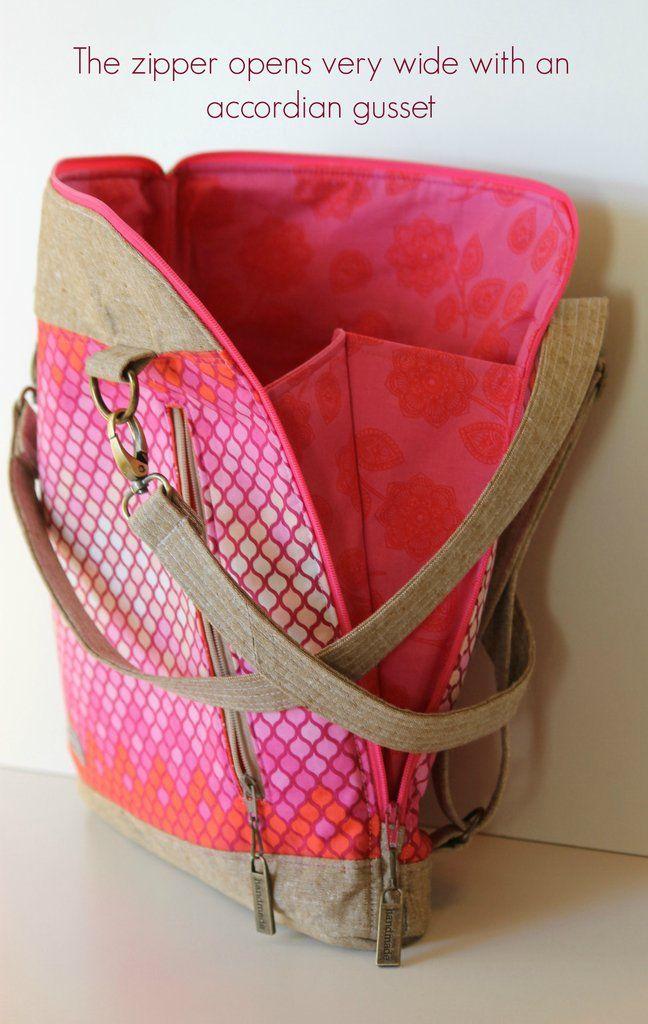 The Calla Convertible backpack - PDF Sewing Pattern | Nähen, Taschen ...