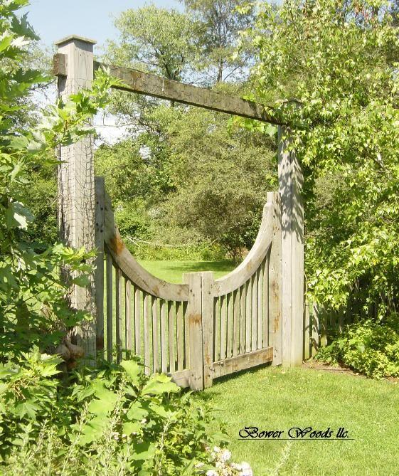 Unique Arbor Gate: Bower Woods Llc. Custom Garden Structures, Rustic Arbor