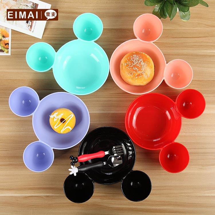 Kids Bowl Dinnerware set Cartoon Creative Plate Children\u0027s Plastic Tableware Lovely Lunch Tray Dishs AA- & Kids Bowl Dinnerware set Cartoon Creative Plate Children\u0027s Plastic ...