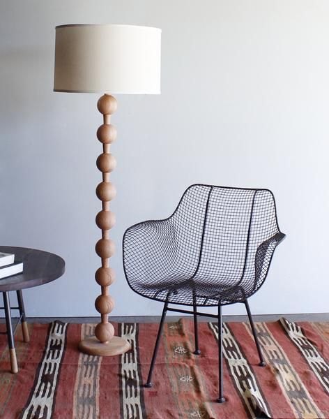 Hugo Barbell Floor Lamp Vintage Floor Lamp Floor Lamp Wood Floor Lamp