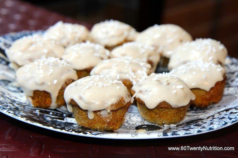 Carrot cake cupcakes vegan gluten free and paleo