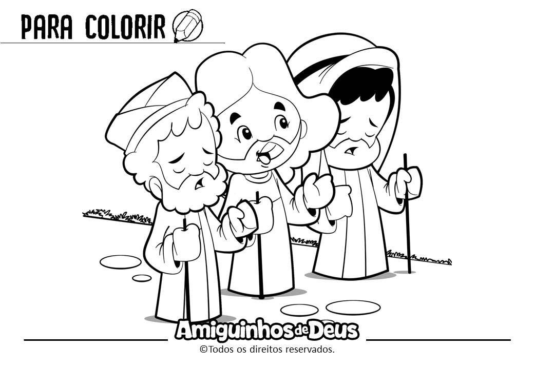 Discipulos De Emaus Desenho Para Coloir Colorir Catequese