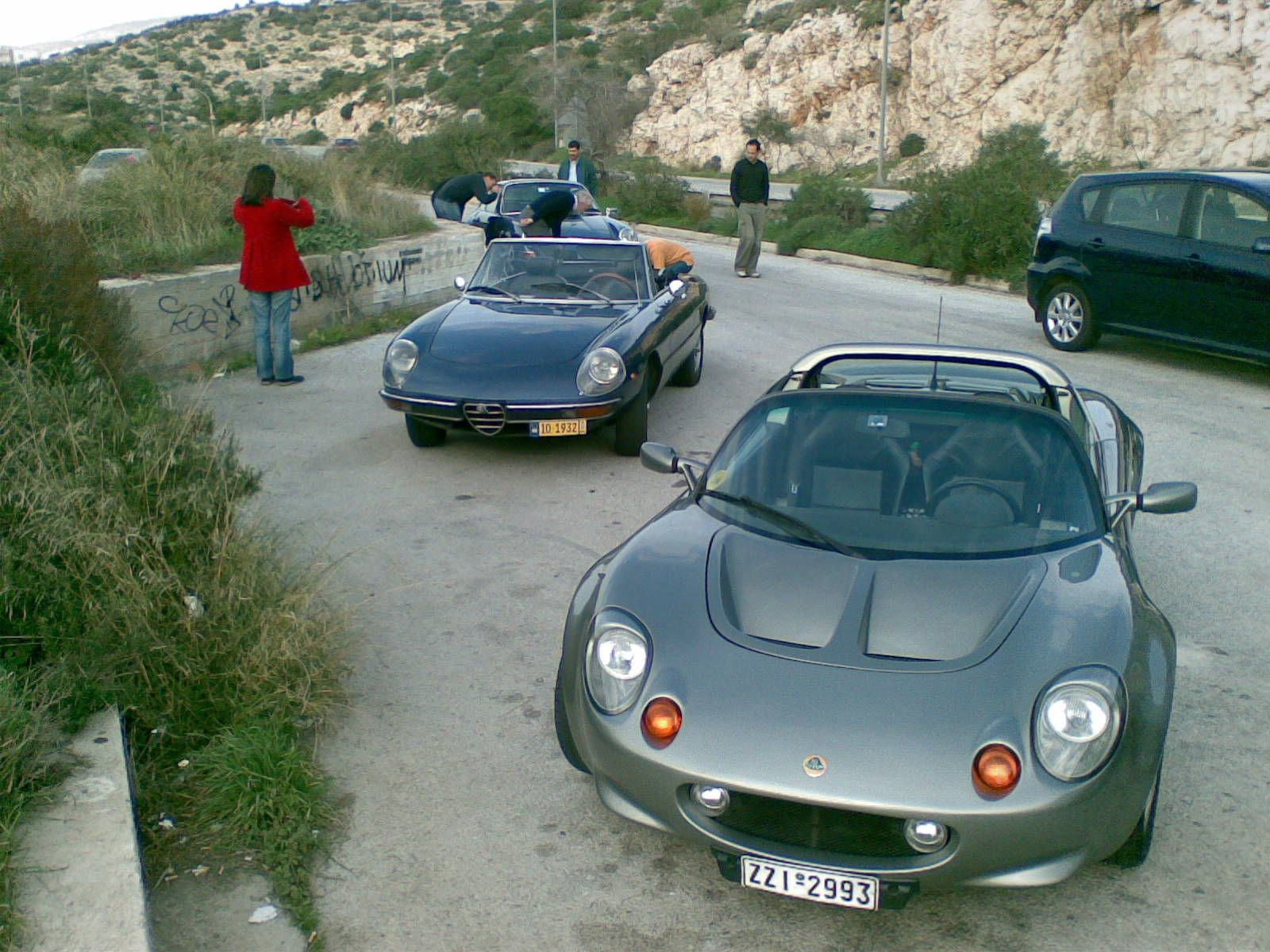 My old Lotus Elise with good company, an Alfa Romeo Spider S2. For ...