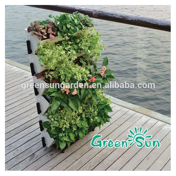 Awesome GreenSun Hot Sale Self Watering Green Wall Hydroponic Vertical Garden