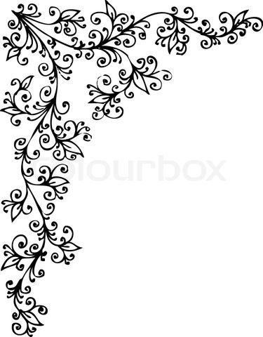 Black And White Border Designs Stock Vector Of Border Swirl Black Swirl Creative Journal Vector