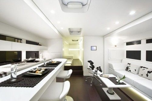 Mobile home with modern and contemporary interior designs elegant