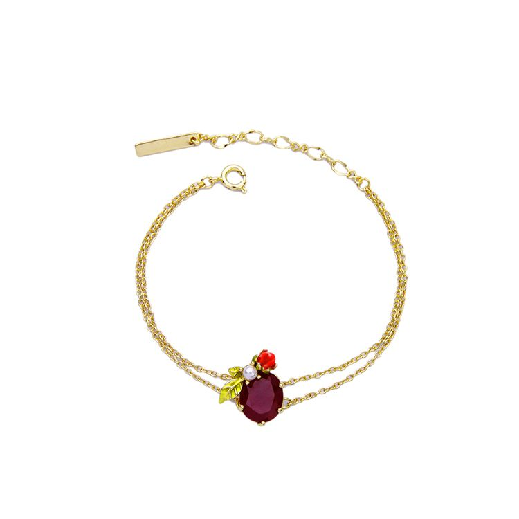 Cute Fashion Simple Enamel Flowers Charm Bracelet Fashion Boho ...