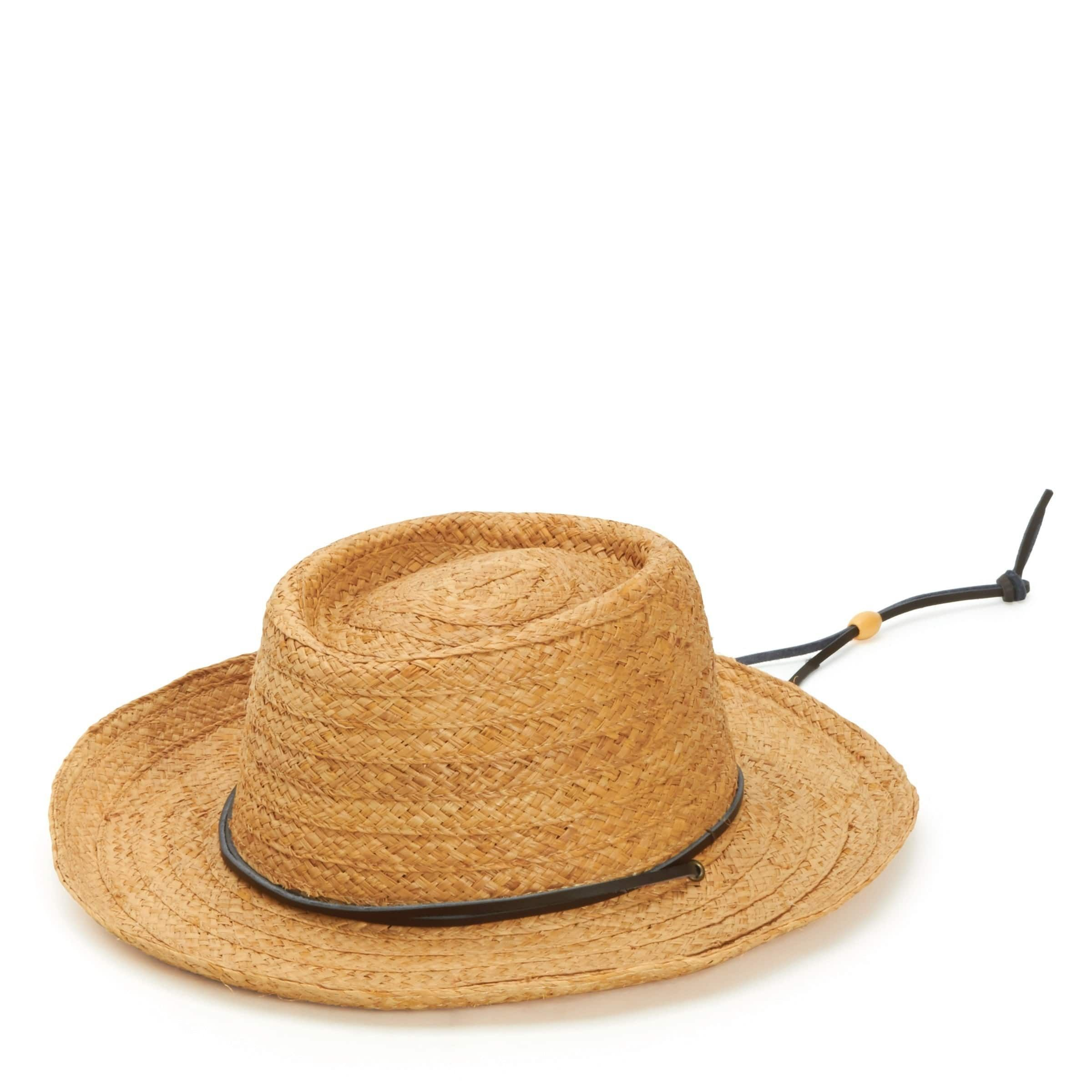 457ab762 San Diego Hat Company/Mens Collection/Straw gambler- natural, Size One Size  Fits Most
