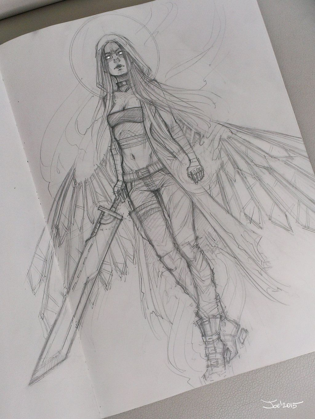 Angel sketch by sashajoe deviantart com on deviantart