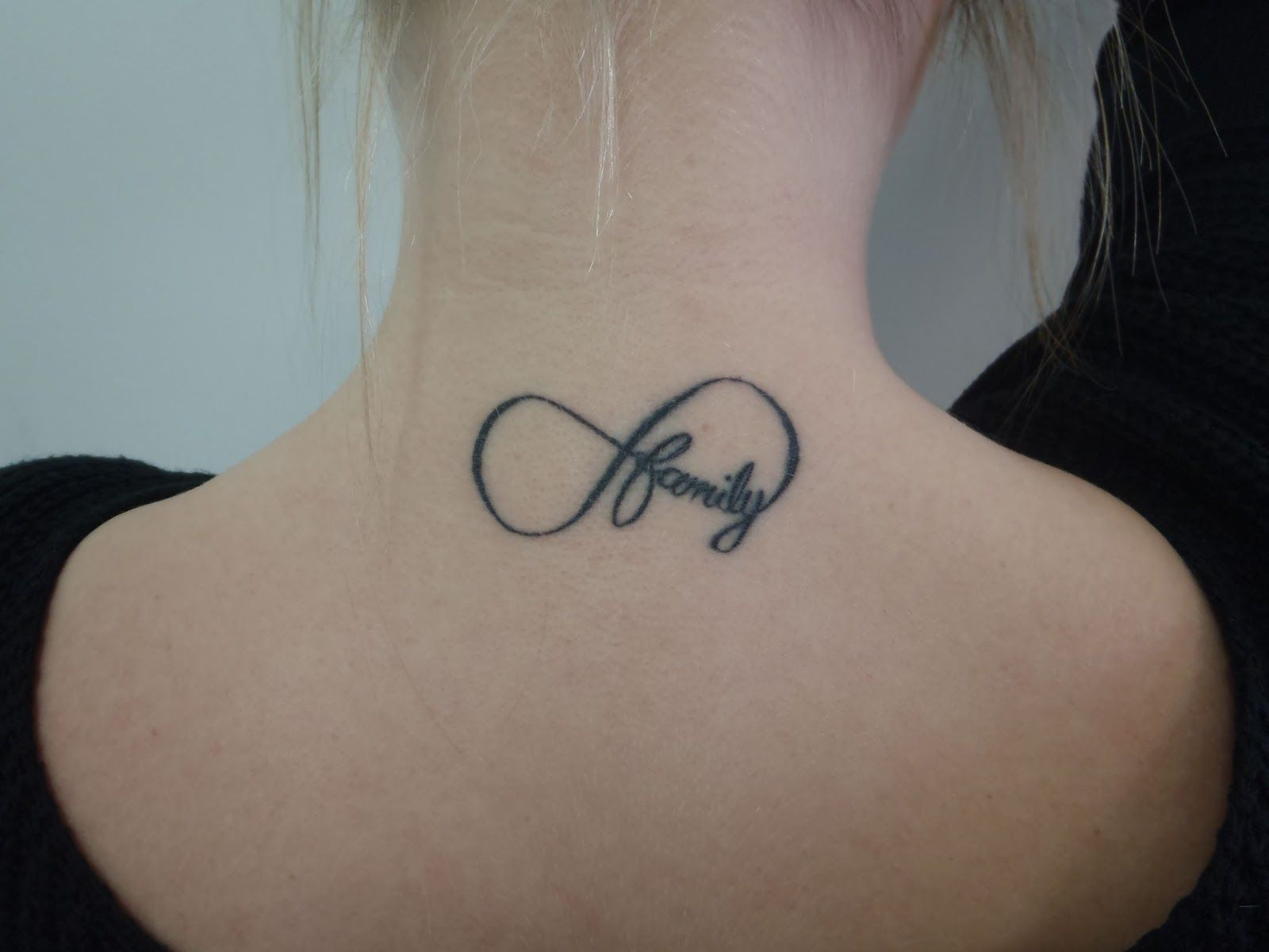 Chloe S Infinity Symbol With Family Tattoo By Justin Neck Tattoo Infinity Tattoo Designs Family Tattoos