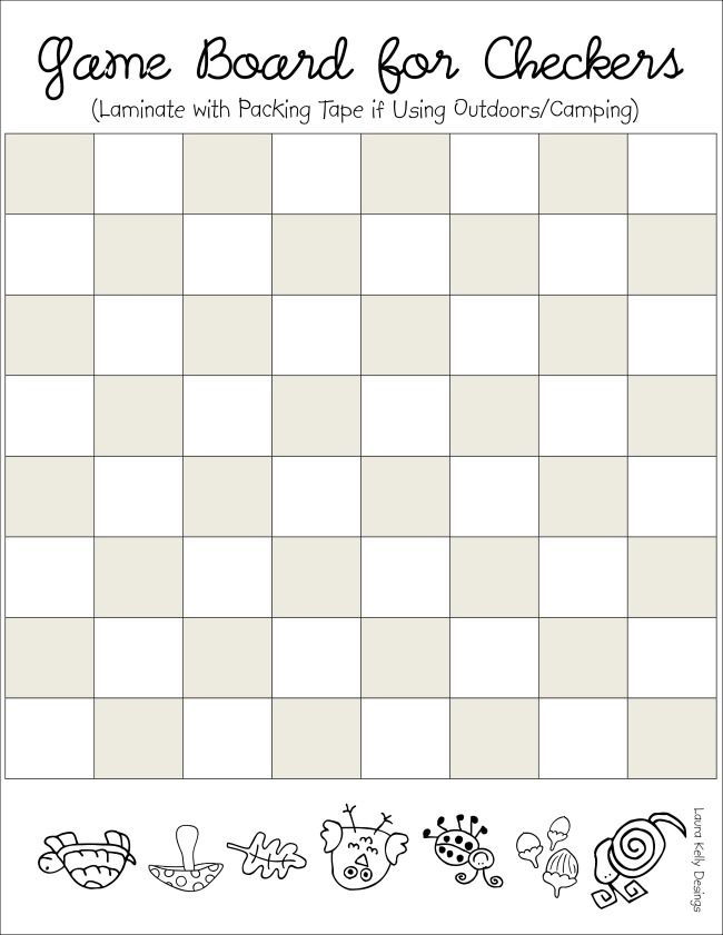 photograph about Printable Checkers Board called Video game Board Checkers Printable Printables - Cost-free printables
