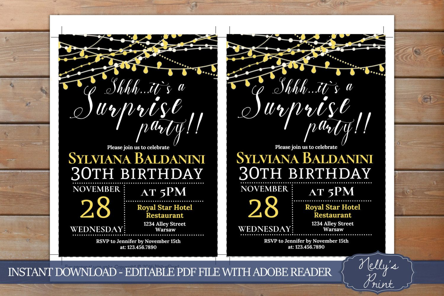 Surprise Birthday Invitation, Adult Party Invitation, Surprise Party ...