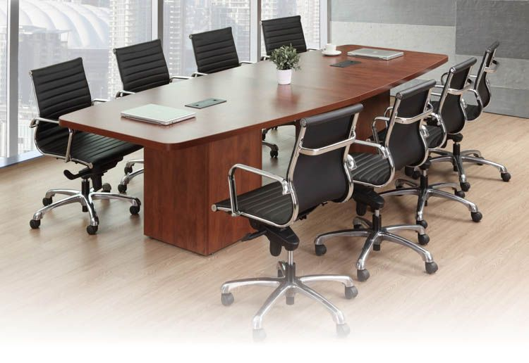 12 Boat Shaped Conference Table With Cube Bases By Office Source Conference Table Conference Room Tables Office Furniture Modern