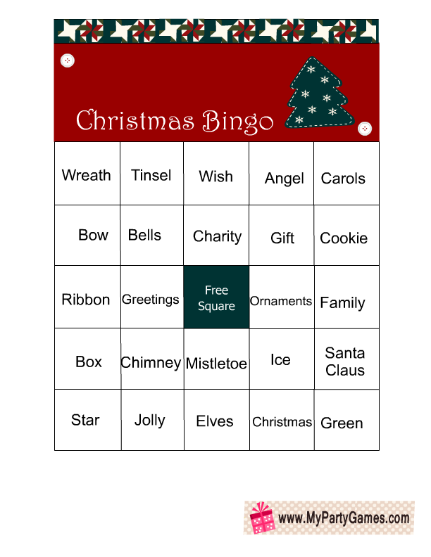 Weihnachtsbilder Word.Free Printable Christmas Word Bingo Game Cards Free Christmas