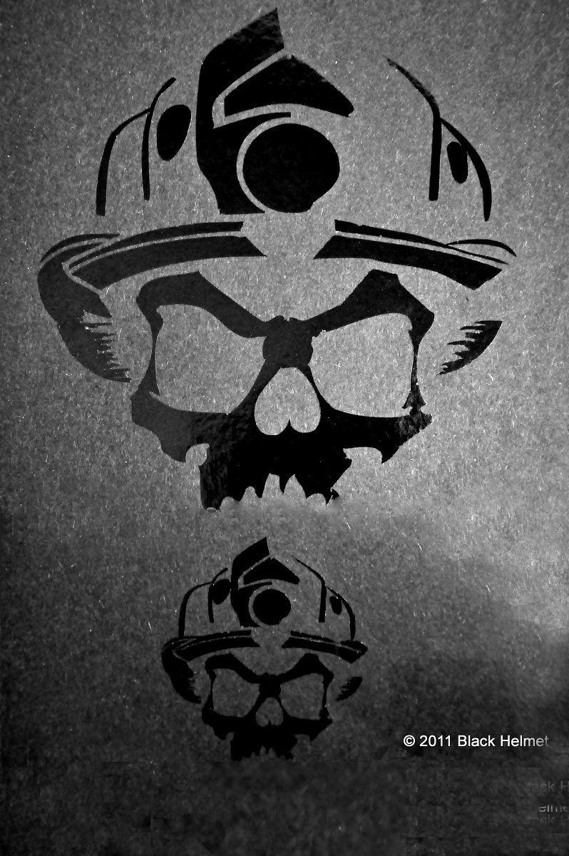Vinyl Decal Pack BLACK REFLECTIVE Black Helmet Firefighter - Custom reflective fire helmet decals