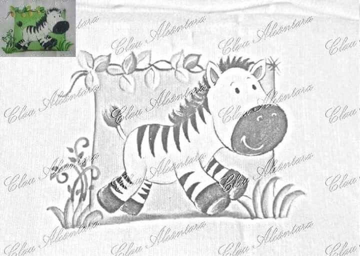 Safari Zebra Com Imagens Pintura Em Fraldas Riscos Para